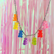 Load image into Gallery viewer, Rainbow Gummie Bear Necklace