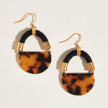 Load image into Gallery viewer, Half Moon Tortoise Earrings