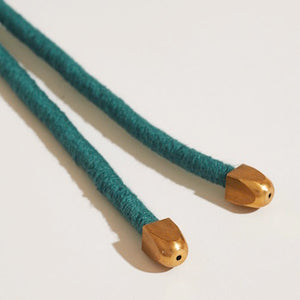 Thin Lanyard Knot Textile Necklace
