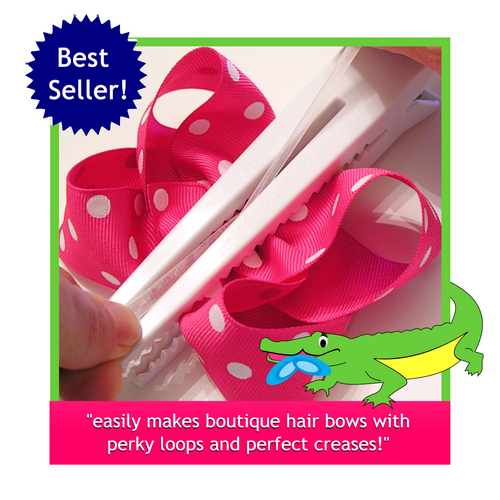 Gator-Bite Hair Bow Creasing Tool