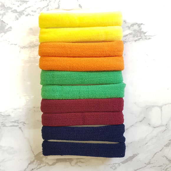 10 Pack Fabric Hair Ties