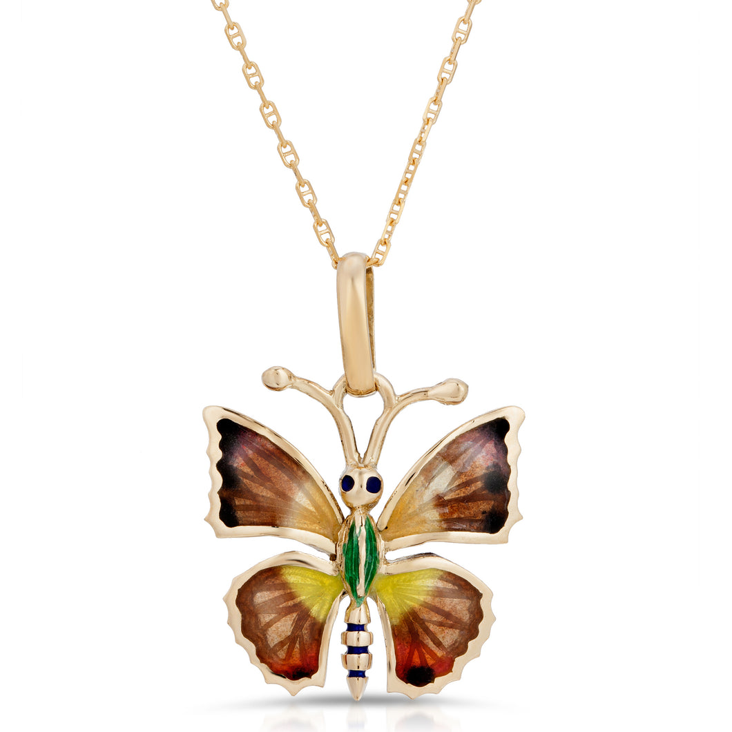14k Yellow Gold - Butterfly Pendant