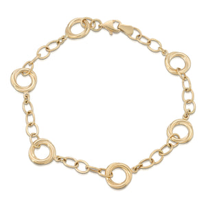 14k Yellow Gold - Loop Bracelet