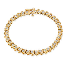 Load image into Gallery viewer, 14k Yellow Gold - Diamond Tennis Bracelet