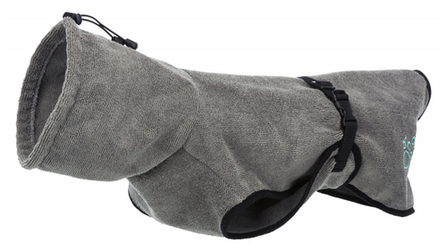 Bathrobe for dogs - grey (30% off RRP!)