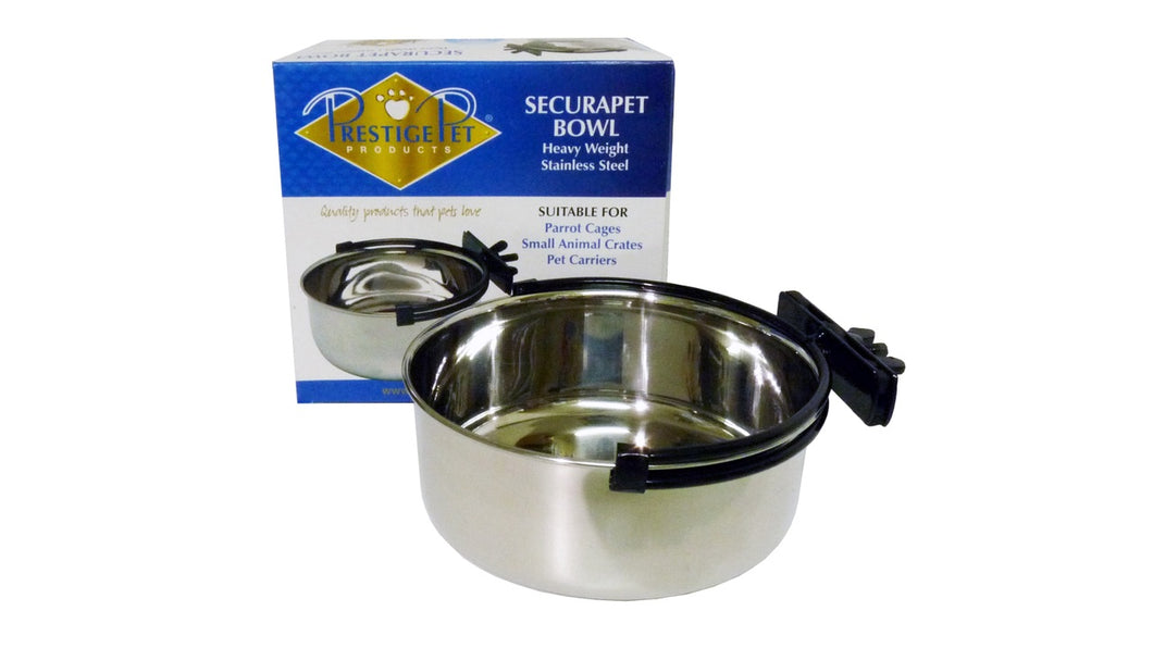 Securapet Bowl (with clamp on holder)