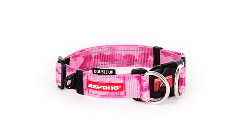 EzyDog Collar Double Up Pink Camo MEDIUM **SALE**