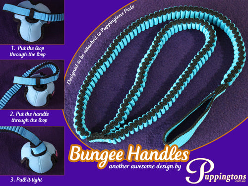 Bungee Handle for use with Puppingtons Pods or toys - BLUE
