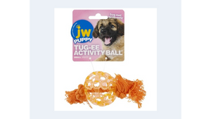 JW Puppy Tug-ee Activity Ball