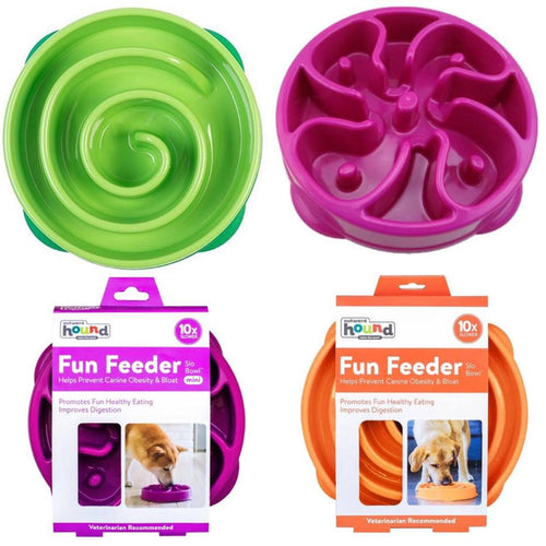 Outward Hound Fun Feeder Bowls