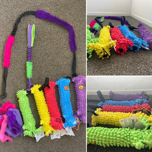 Loofa Dog Floppy with loop to attach to bungee