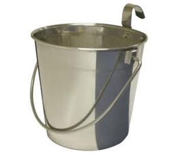 Stainless Steel Bucket Flat Sided with hook