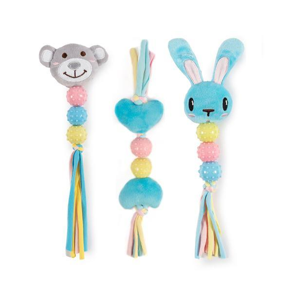 Ancol Teether Bunny, Bear And Heart