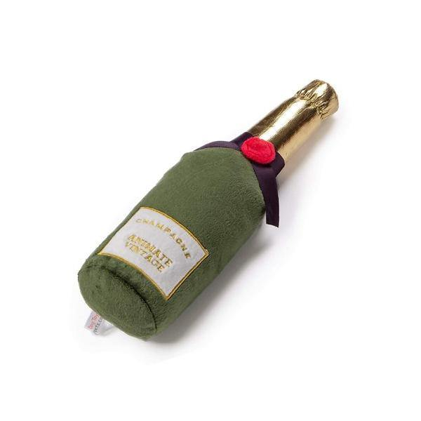 Animate Plush Champagne Bottle Dog Toy