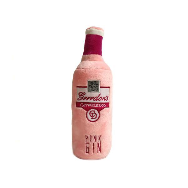 Grrrdon's Pink Gin Bottle Dog Toy