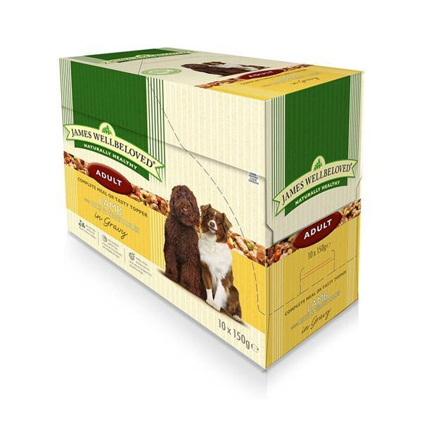 James Wellbeloved Adult Dog Lamb & Rice Wet Food Pouches - Underdog Pets