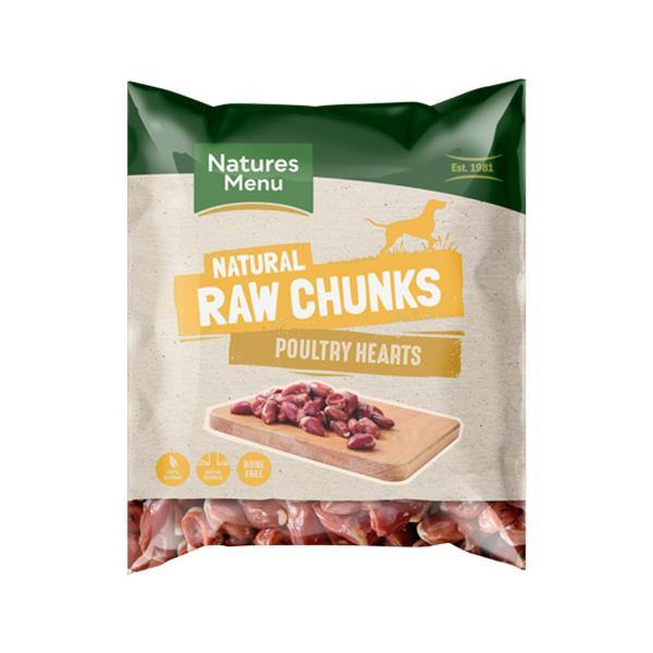 Natures Menu Raw Poultry Heart Chunks