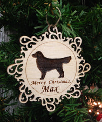 Dog Breed Personalized Christmas Ornament