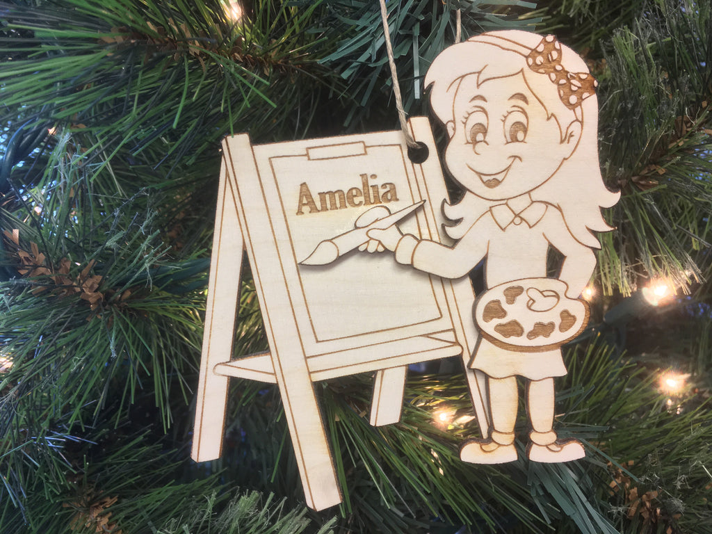 Artist Christmas Ornaments.Artist Female Grande Place Music Boxes Christmas And