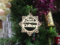 My Own Name Personalized Laser Cut Wood Ornament