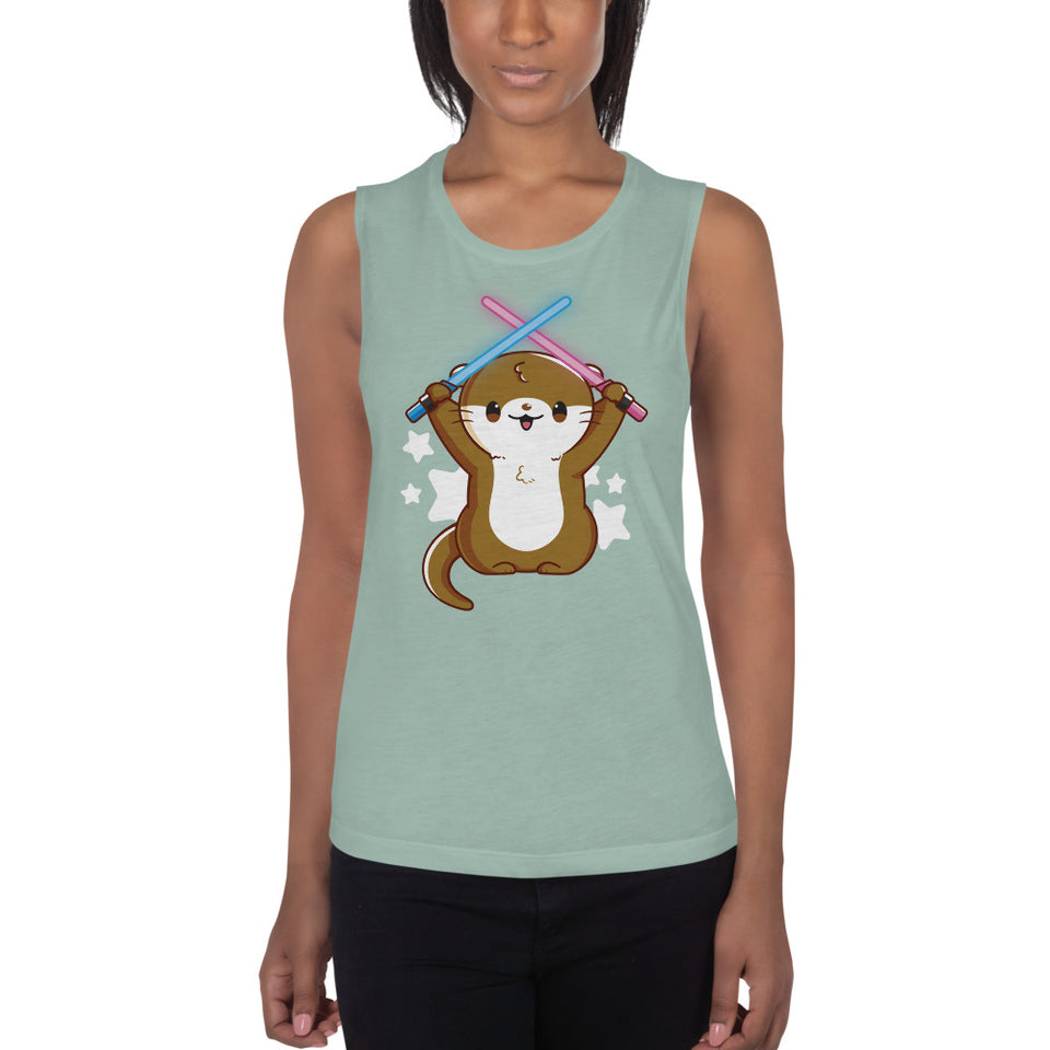 Otterly Adorable Womens' Muscle Tank