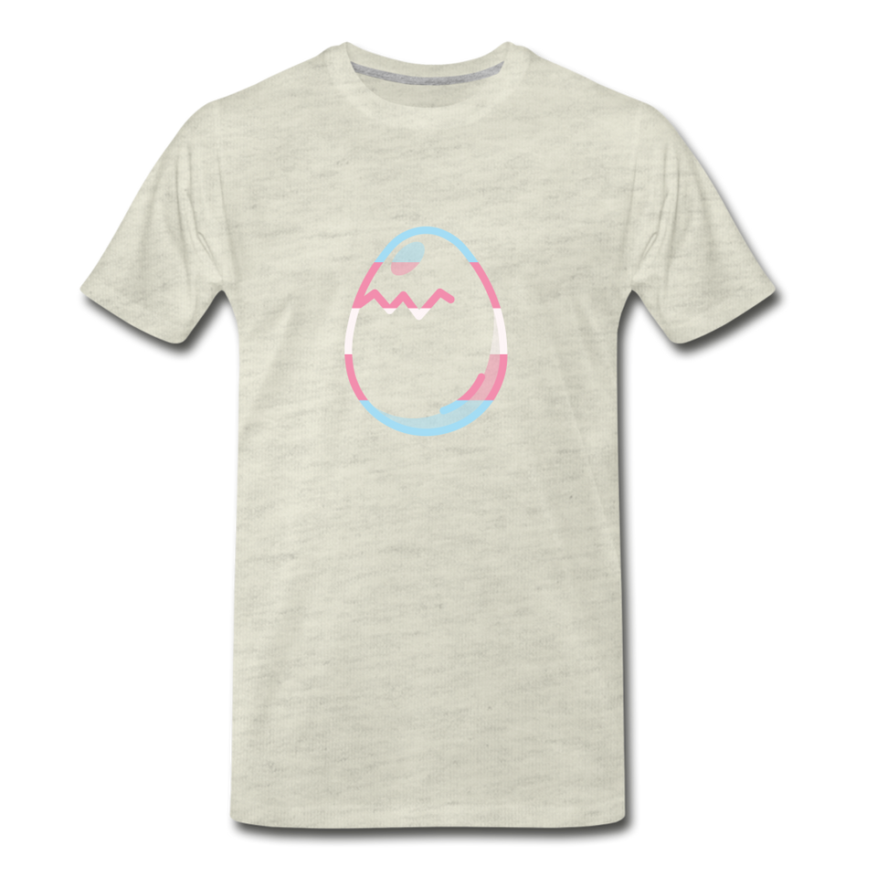 Sharky the Egg Tee - heather oatmeal