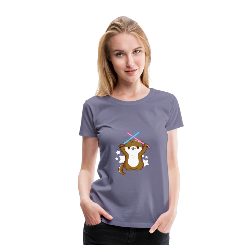 Otterly Adorable Premium Women's Tee - washed violet