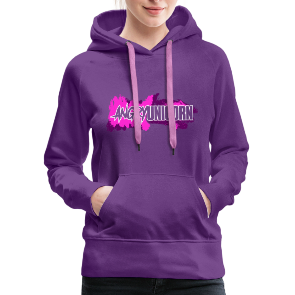 Angry Unicorn OG Women's Hoodie - purple