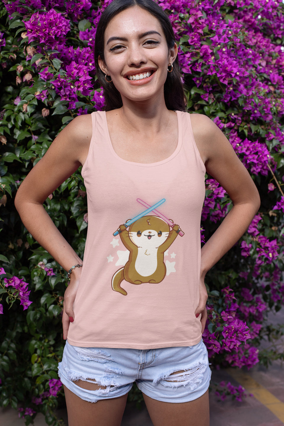 Otterly Adorable Racerback Tank