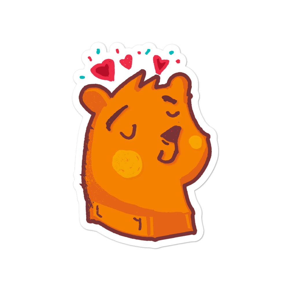 Bear in love - weneedmorestickers