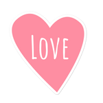 Love heart sticker - weneedmorestickers
