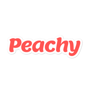 Peachy sticker - weneedmorestickers