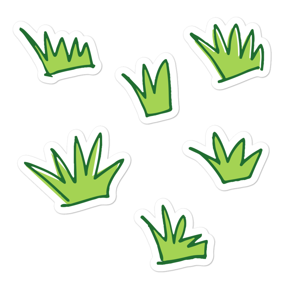 Grass sticker pack - weneedmorestickers