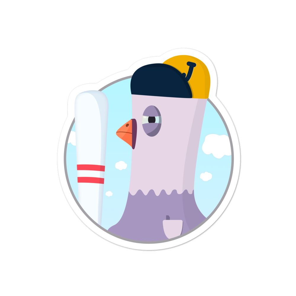 Pigeon and baseball - weneedmorestickers