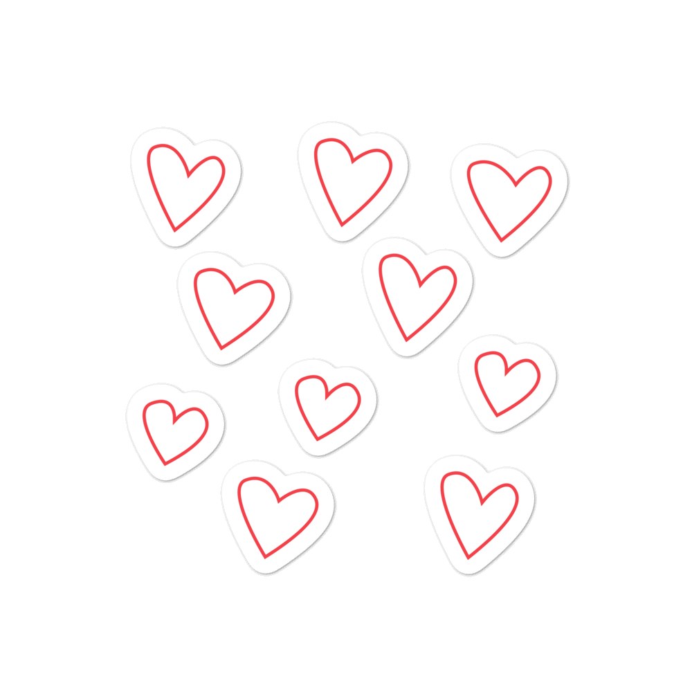 Mini hearts sticker pack - weneedmorestickers
