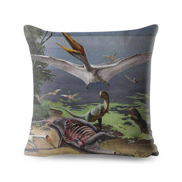 Coussin Dinosaure carnivore - Squelette Fossile Shop