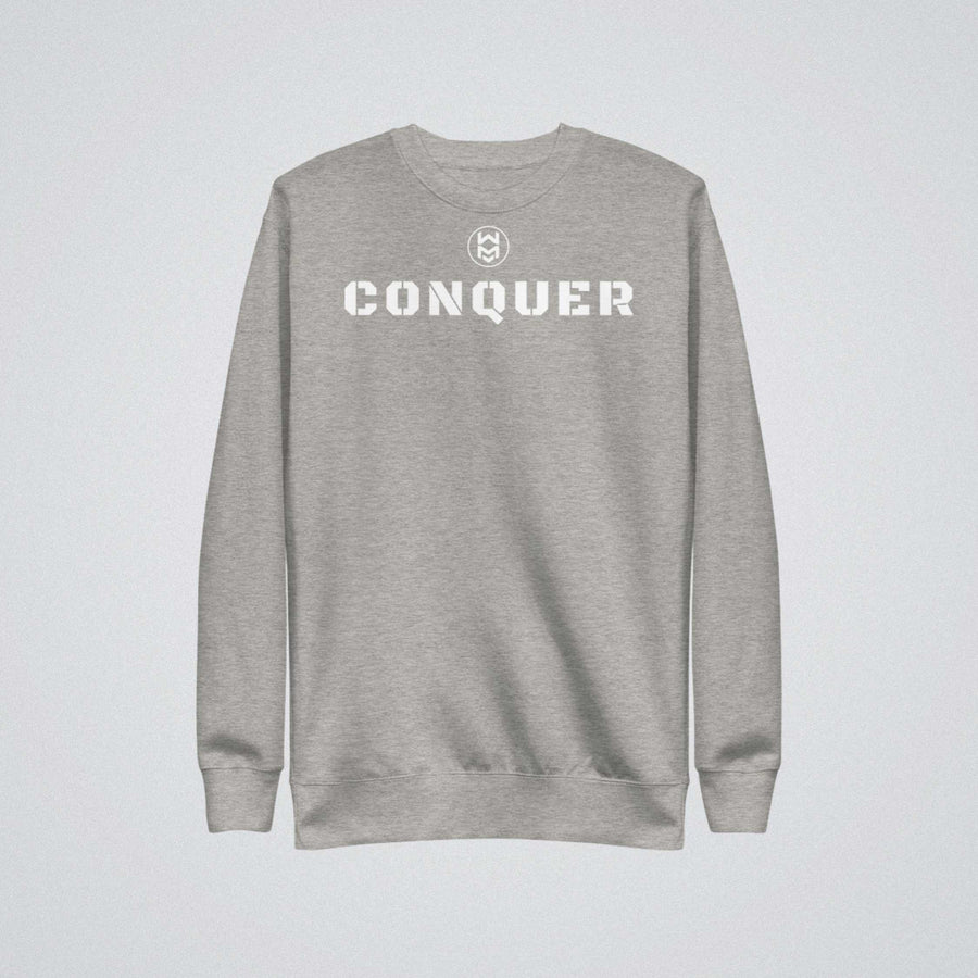Conquer Sweatshirt - Gray/White