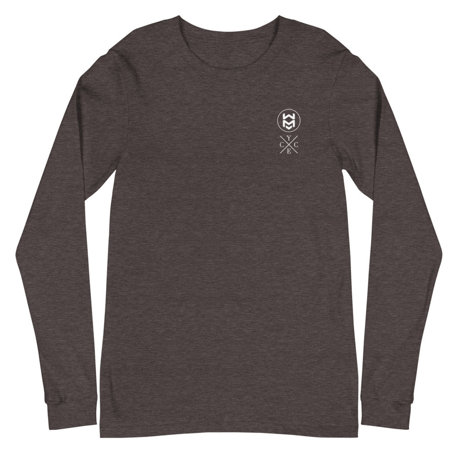 Dual Logo Long Sleeve - Dark Gray Heather