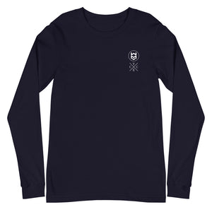 Dual Logo Long Sleeve - Navy