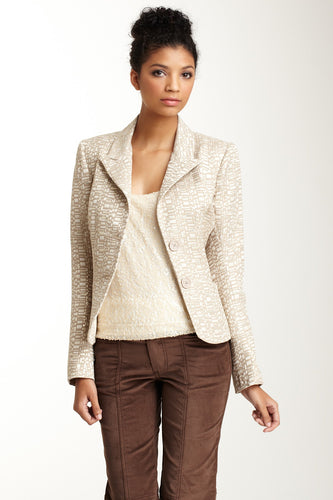 Brocade Blazer - Rectangle Gold