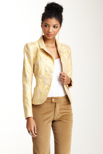Brocade Blazer - Yellow Gold