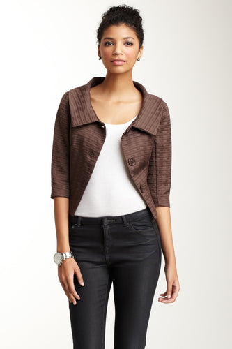 Jackie O Jacket - Cocoa Rectangles