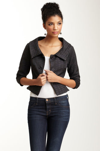 Jackie O Jacket - Black Rectangles