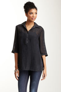 Viscose Basic Tunic - Black