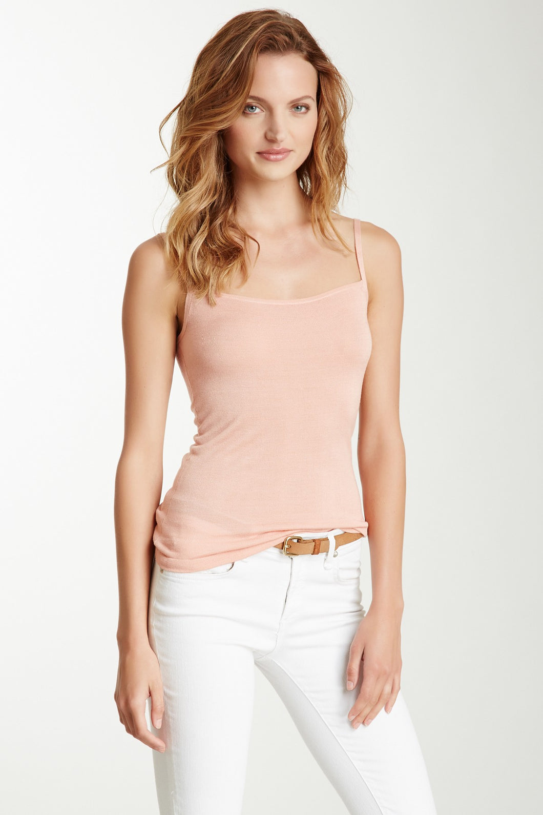 Ultra Soft Knit Tank Top - Dusty Pink