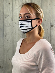 Face Mask Black Zebra (Singola)
