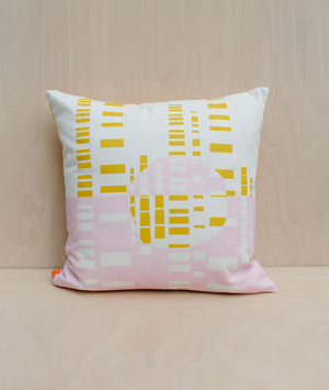 Cushion - Forest - Mustard / Pink - 45cm