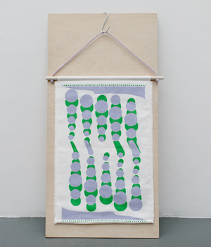 Wallhanging - Peas - Green / Purple