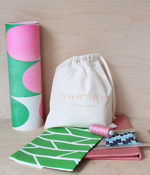 Make It Yourself Cushion Kit - Convergence - Green