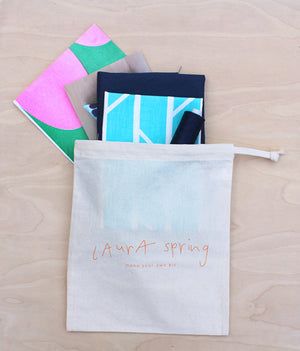 Make Your Own Cushion Kit - Convergence - Light Blue